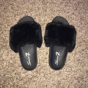 Fuzzy sandals